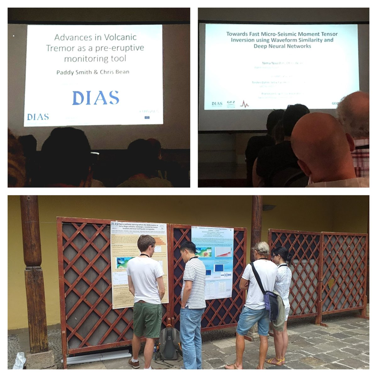 test Twitter Media - Volcano-seismologists from @DIAS_Dublin in Gacachico, Tenerife attending the IAVCEI workshop where they made presentations about their ongoing research. #DIASdiscovers https://t.co/icXxQFjBcc