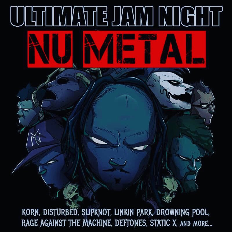 THIS TUESDAY OCTOBER 8th Eastern time! ULTIMATE JAM NIGHT & RYOULIVE present a night of NU METAL... featuring songs by KORN, SLIPKNOT, DISTURBED, STATIC X, RAGE AGAINST THE MACHINE and more... https://t.co/SIU9108uG4  #hollywood #korn #slipnot #disturbed https://t.co/nLgojjBbCk