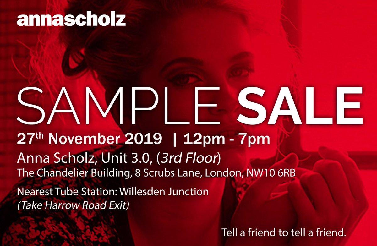 test Twitter Media - Save the date! #annascholz #plussizedesigner #samplesale November 27th in London NW10 12pm-7pm https://t.co/Wv43vOFnOb