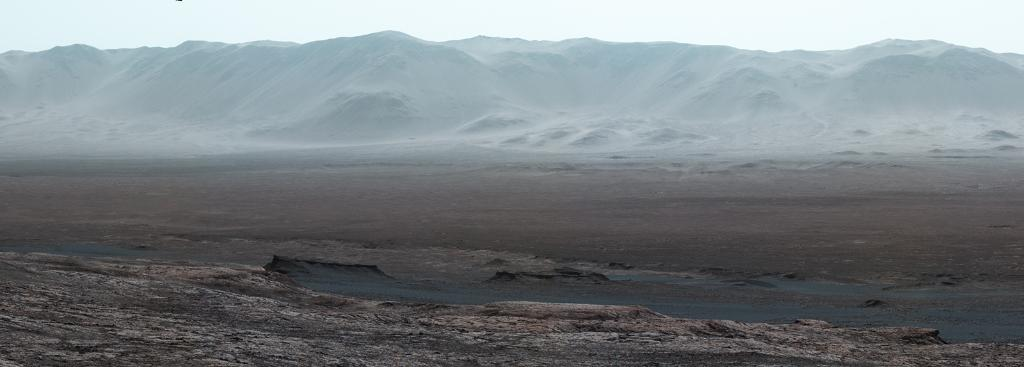 Gale Crater photograph from Mars surface