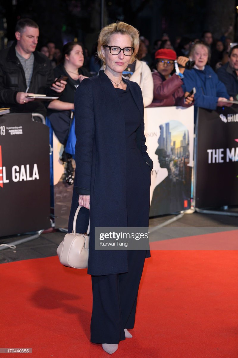 Last night at the premiere of the fantastic @MarriageStory @BFI #LFF  Coat: #GAWinserLondon for @WinserLondon Purse: @gabrielahearst Jumpsuit: @Goatfashion Shoes: @KurtGeiger