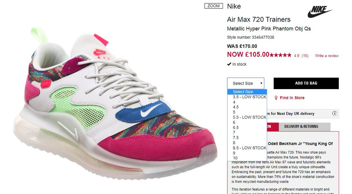 OBJ x Nike Air Max 720 'Young King