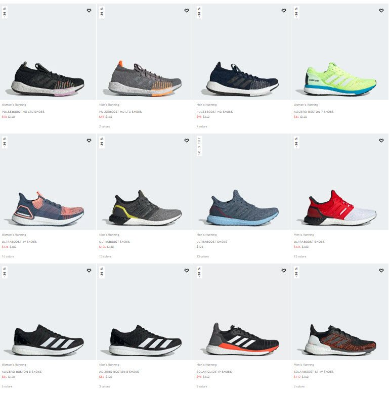 Shop 100s of adidas BOOST models EXTRA