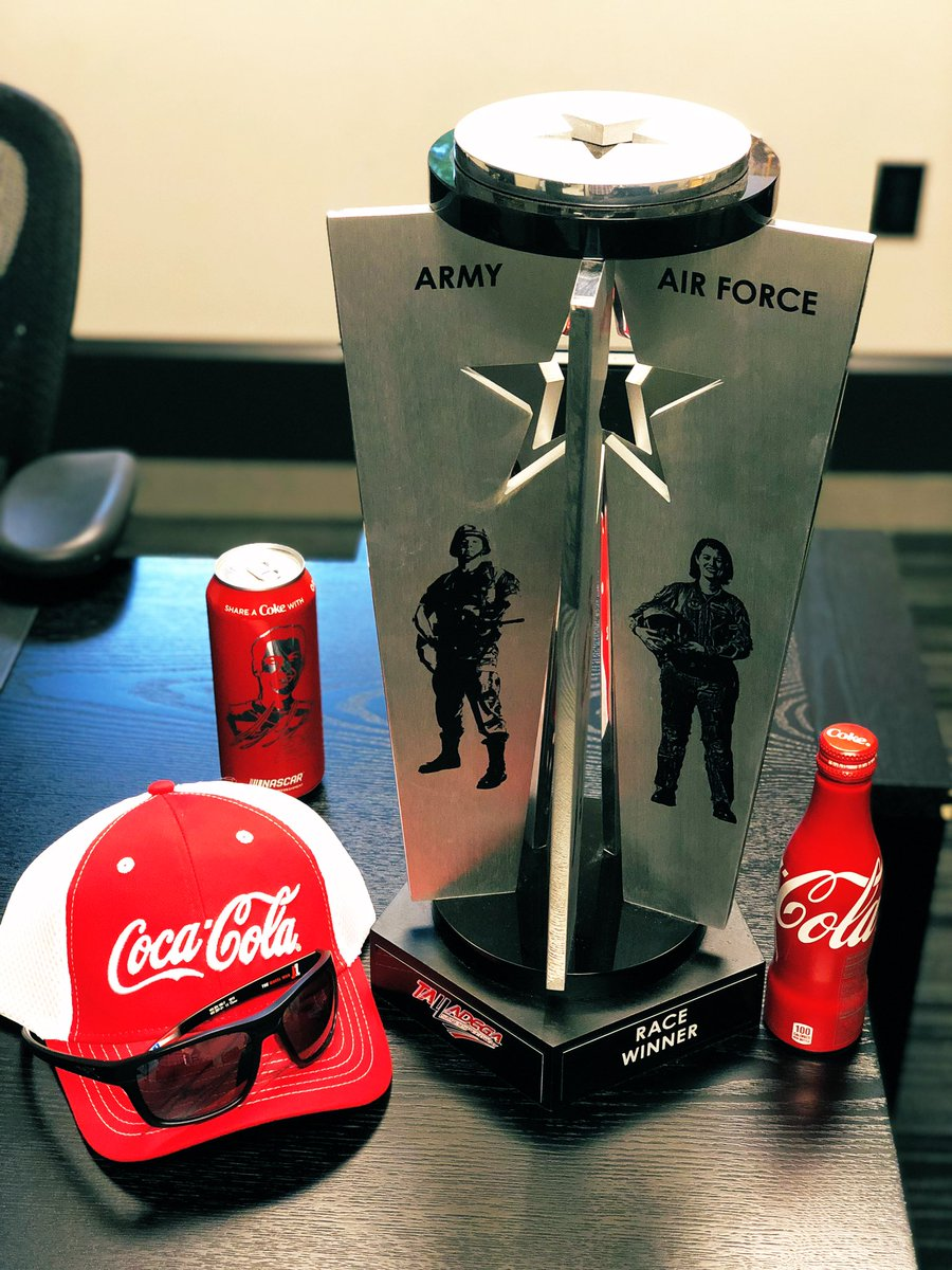 It's going to be a big weekend at @TalladegaSuperS. Hopefully we add another one of these to the shelf. #ShareACoke #CokePartner #NASCARPlayoffs @CocaColaRacing