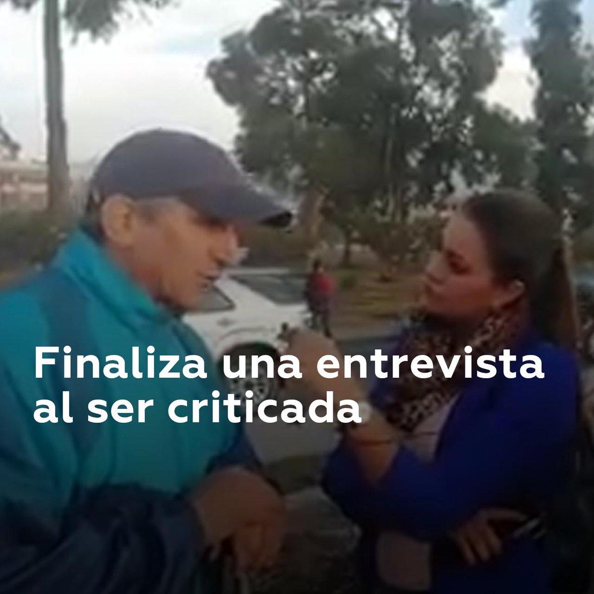 Una reportera de Ecuador TV puso fin a una entrevista después de que el entrevistado se quejara de que lo interrumpía con preguntas y no le dejaba terminar sus frases. ¿Qué les parecen la entrevista y las respuestas?