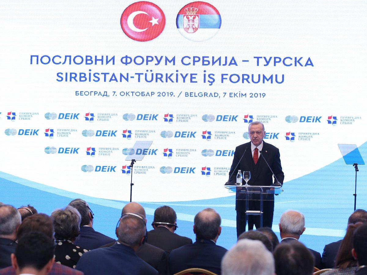 """""""Sırbistan ile sadece ticaretimiz değil, karşılıklı yatırımlarımız da artıyor"""" tccb.gov.tr/haberler/410/1…"""