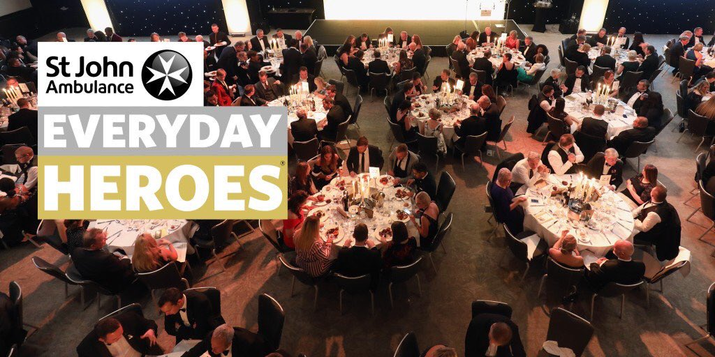 We're proud to work with @stjohnambulance and tonight we're at the #everydayheroes awards to celebrate the extraordinary work of their passionate individuals 👏