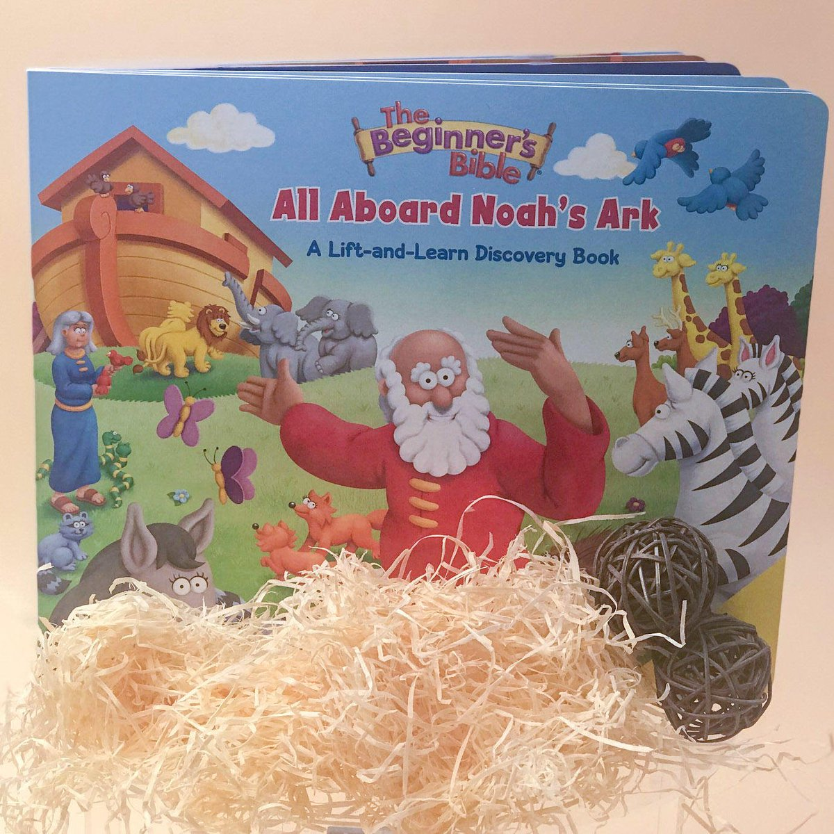 All Aboard! Noah's Ark, that is. The @beginnersbible All Aboard Noah's Ark is an adventure that you don't want to leave on the shelf. Includes 50 flaps that encourage children to identify colors, shapes, and sounds, match up animals, and so much more. https://t.co/GE14bmN5z9 https://t.co/GNp0dAVGAe