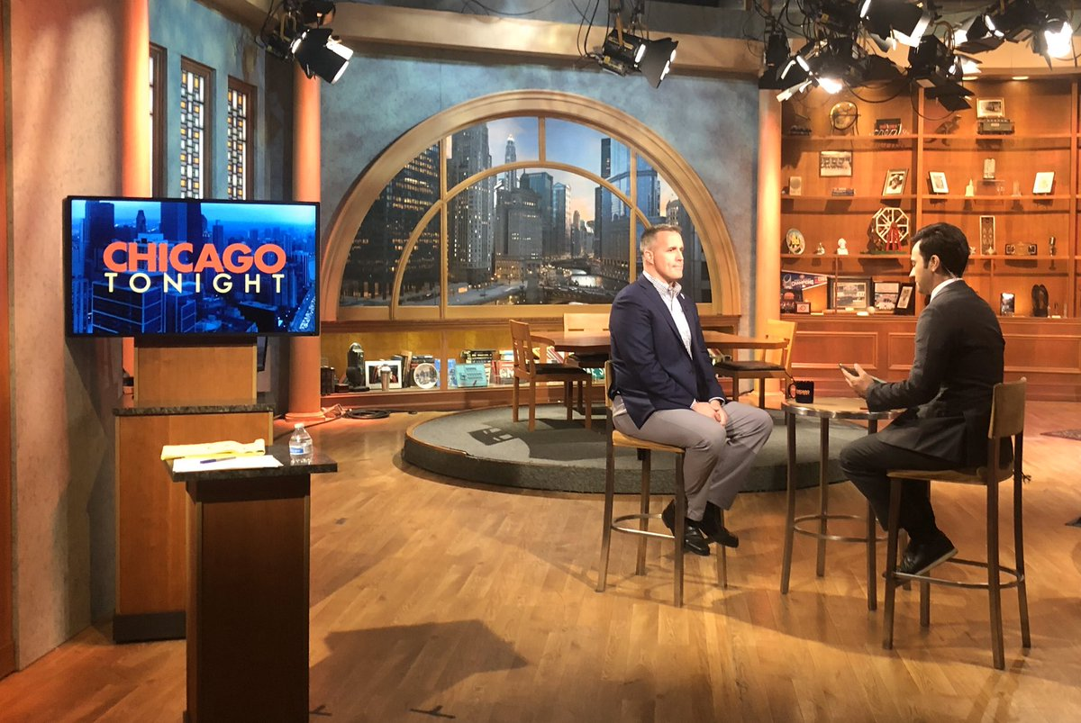 Thanks to Chicago Tonight for having me to talk about @NorthwesternU, my time at @sesp_nu and the 'Cats!