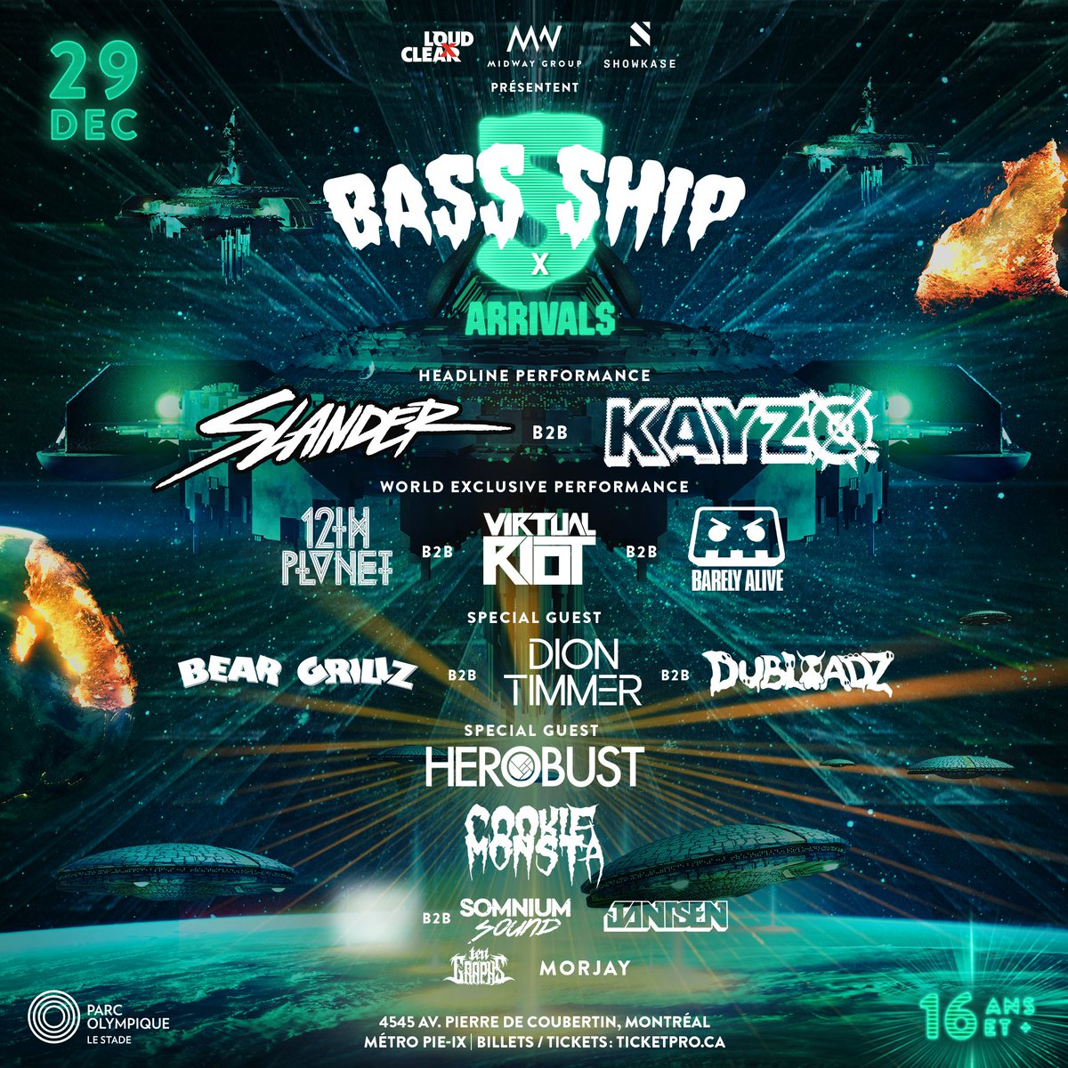 Kayzo and Slander debut at Bass Ship 5 alongside other B2Bs