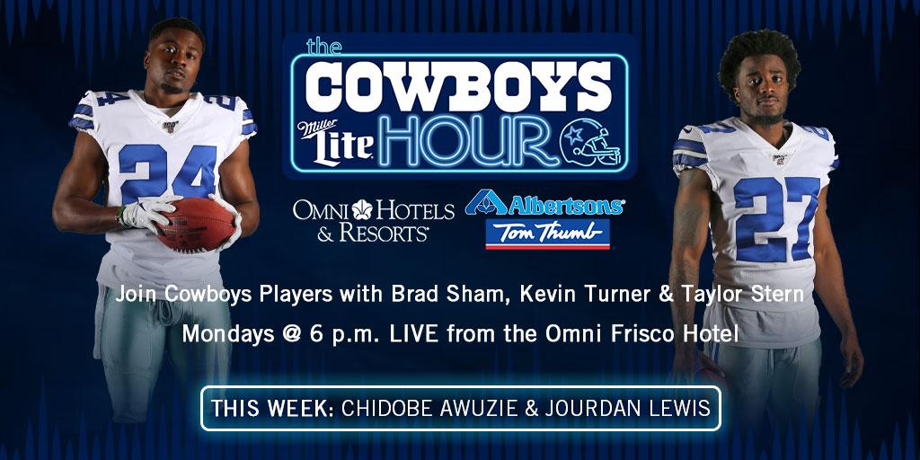 Tune in as @ChidobeAwuzie & @JourdanJD join us at Neighborhood Services at the @OmniFrisco Hotel for The Miller Lite Cowboys Hour presented by @Albertsons TONIGHT at 6PM!