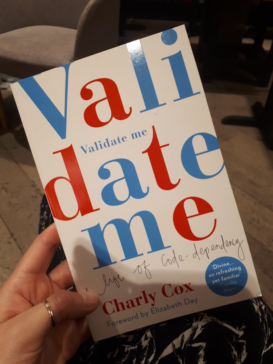 So proud of @charlycox1 at the @Waterstones_Edi launch of VALIDATE ME tonight. A lovely soul who tells stories with such humour and heart. Folks, catch her on her tour dates if you can!