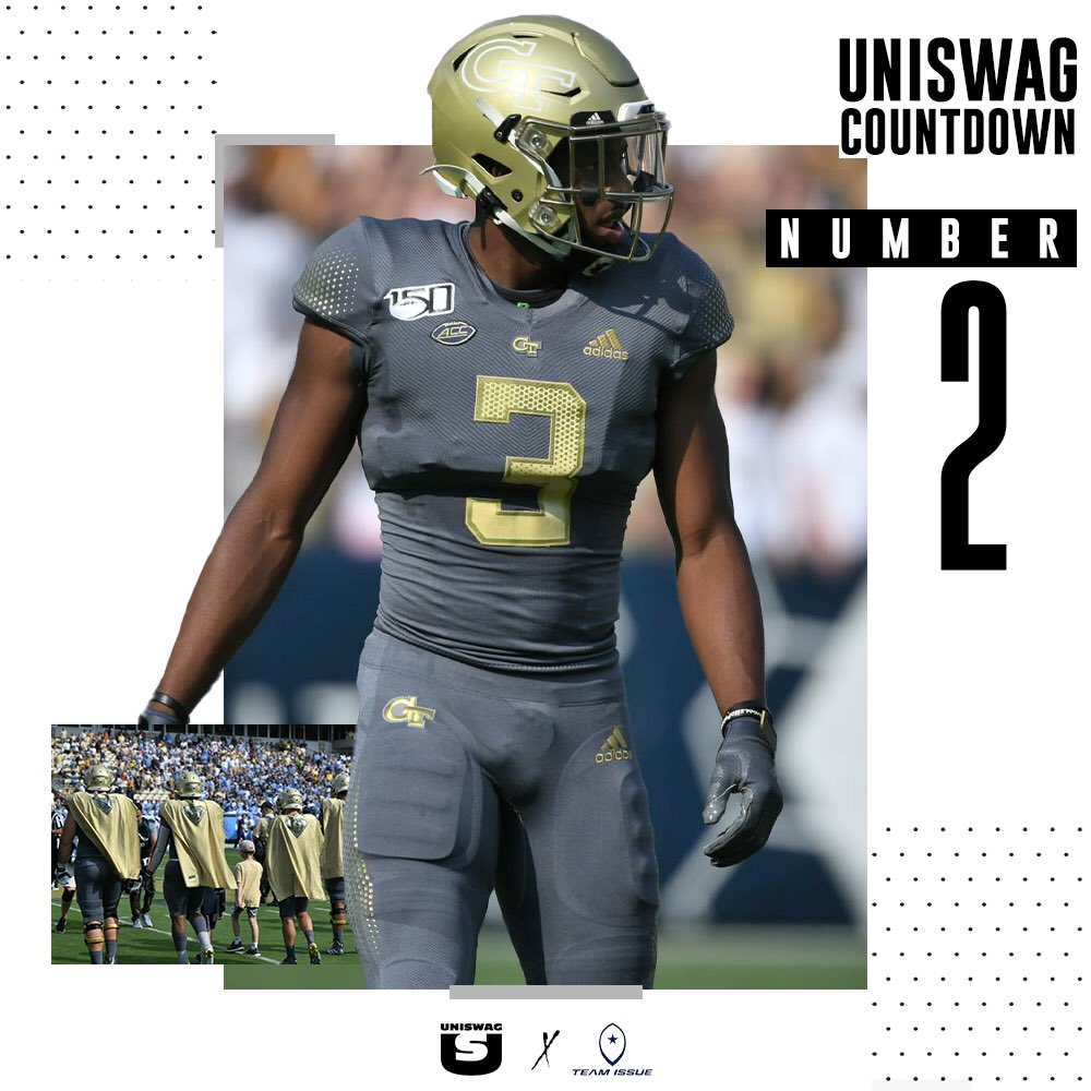 Week 6 Uniform of the Week Countdown #2 @GeorgiaTechFB #uniswag