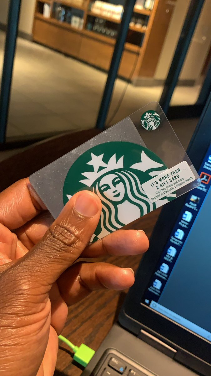 "Sitting in @Starbucks on a call, and I get a tap on my shoulder and someone hands me this gift card. After hanging up the call, come to find out, it's my former student Latavious who said ""it's the least I can do for what you did for me as my teacher. You changed my life, Jones."""