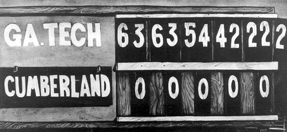On this day in 1916 college football's biggest blowout occurred, when @GeorgiaTechFB beat Cumberland College 222-0!?...we'll just let this one sit here (Sorry Cumberland fans) 😅