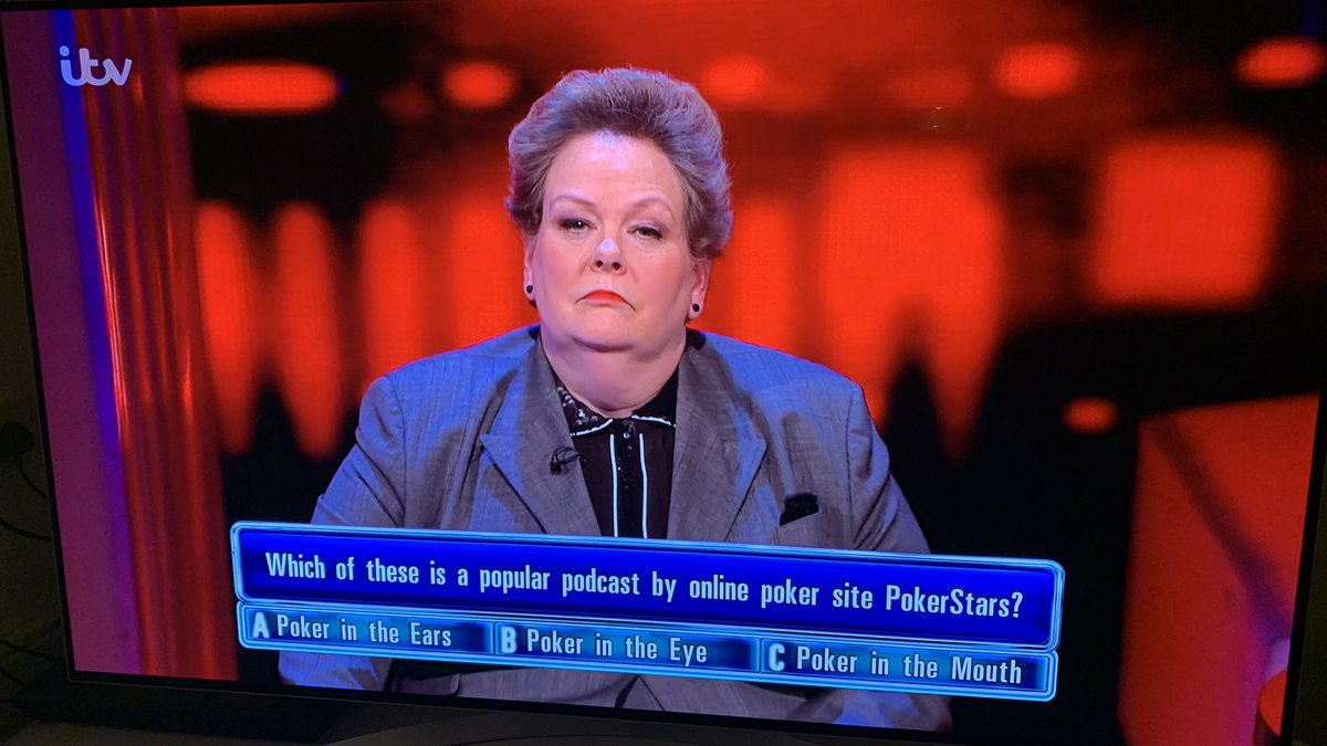 Still can't quite believe that this was an ACTUAL question on Saturday night's @ITVChase! #PokerInTheEars