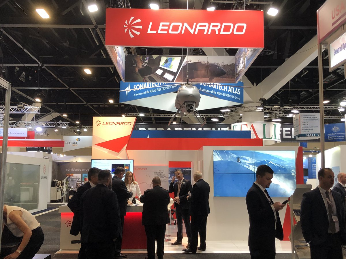 .@Pacific2019Expo has officially begun and we are proudly presenting our product portfolio at stand 2P11! Come visit us #LeonardoInAustralia #Pacific2019