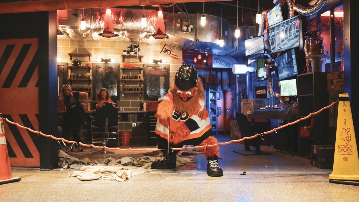 After completing a rigorous quarter hour online course in Feng shui, @GrittyNHL has finally unveiled the C.O.M.M.A.N.D Center, a place where model Gritizens can get a makeover at @WellsFargoCtr.
