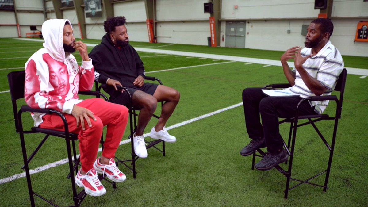 .@obj and @God_Son80 flip the script on @RandyMoss asking the Hall of Famer about the growth and challenges he faced during his career.