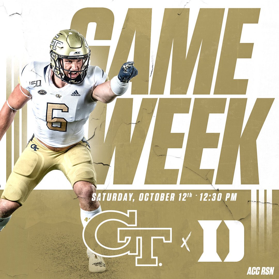 ATTACK. ATTACK. ATTACK. GAME WEEK!!! 🏈: Duke 📆: Oct. 12th ⏱: 12:30 PM 📺: ACC RSN #404theCULTURE #biGTime
