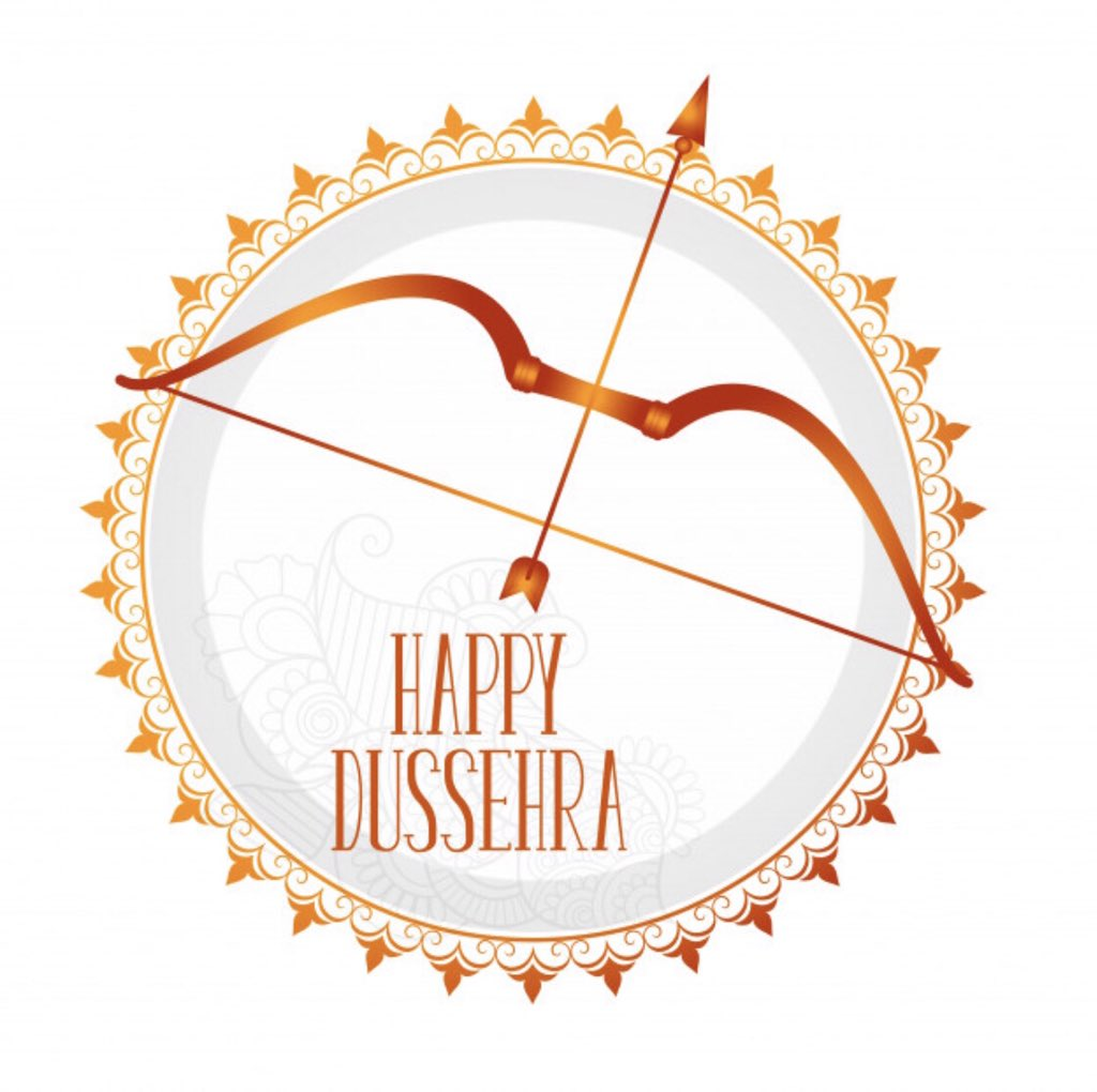 #HappyDussehra everyone. Hope this festive season brings lots of prosperity and joy to all of you.