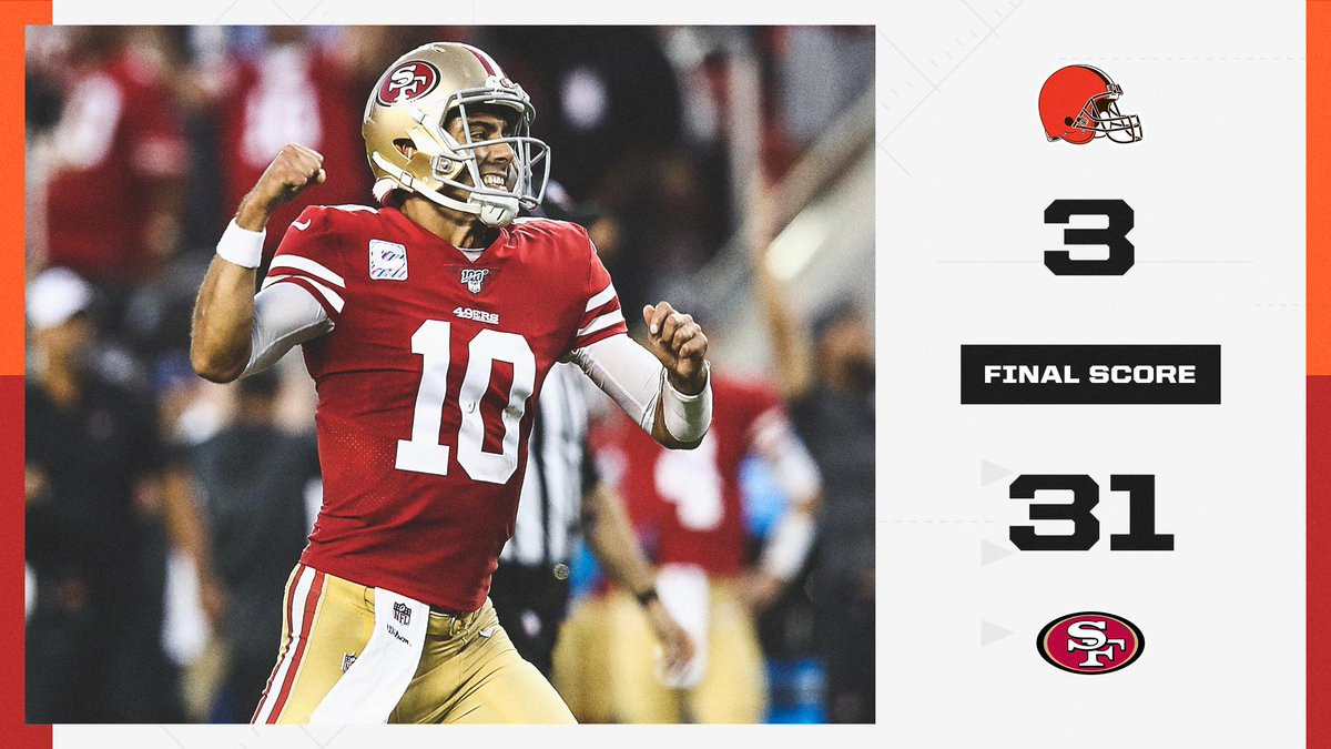 🔴 49th MNF win 🔴 First 4-0 start since 1990 San Francisco remains the last unbeaten team in the NFC.
