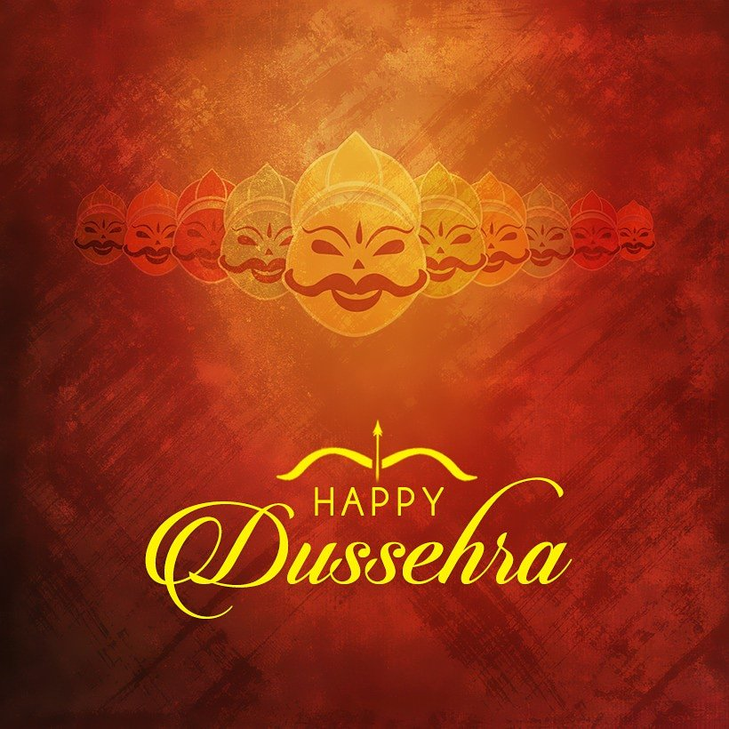 May this Dussehra, light up for you the hopes of happy times, and dreams for a year full of joy and happiness! 😊 Wish you and your family a #HappyDussehra