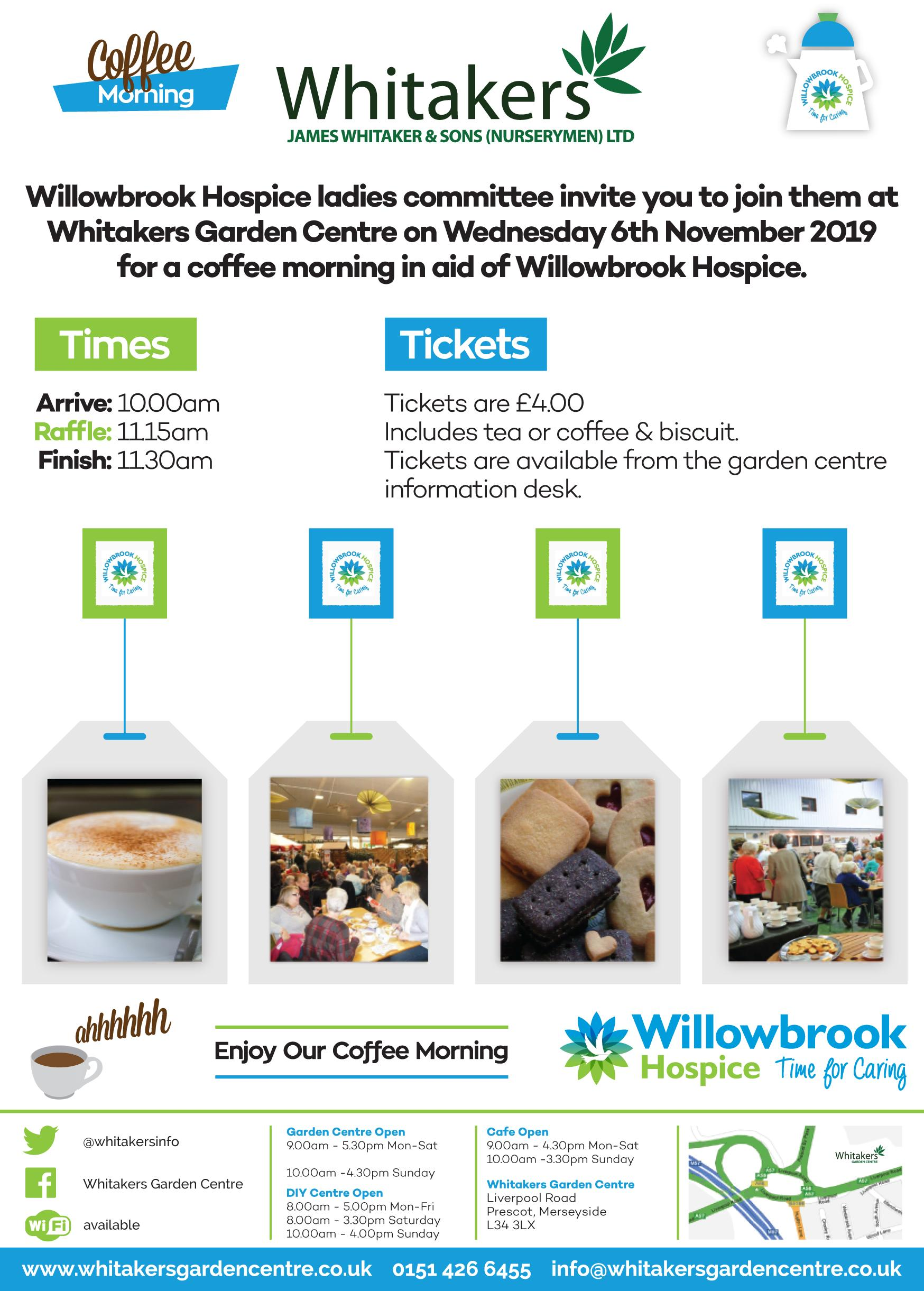 Coffee Morning in aid of Willowbrook Hospice