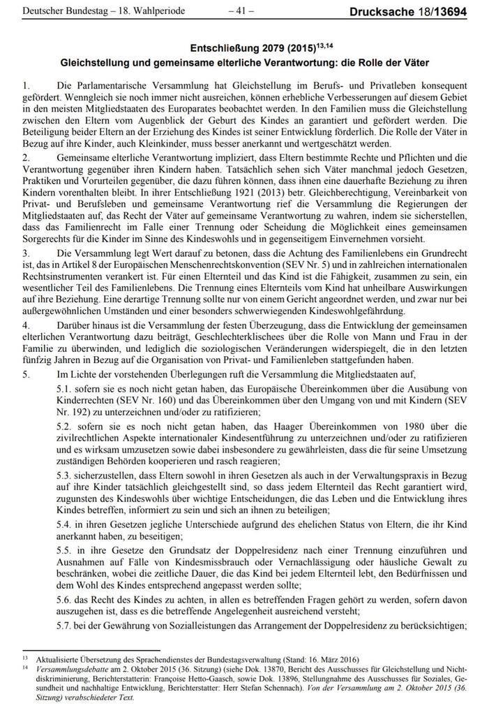 """@AntjeTillmann @EntfremdeteMama @cducsubt @BMF_Bund Der Europarat @coe fordert von Deutschland den gesetzlichen """"Grundsatz der #Doppelresidenz"""" von Trennungskindern bei beiden Eltern und """"Ausnahmen auf Fälle von Kindesmissbrauch oder Vernachlässigung oder häusliche Gewalt zu beschränken"""".  https://t.co/TwkLddosG4 #Wechselmodell https://t.co/WrRdVrSbBa"""
