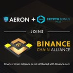Image for the Tweet beginning: Aeron and CryptoBonusMiles are pleased