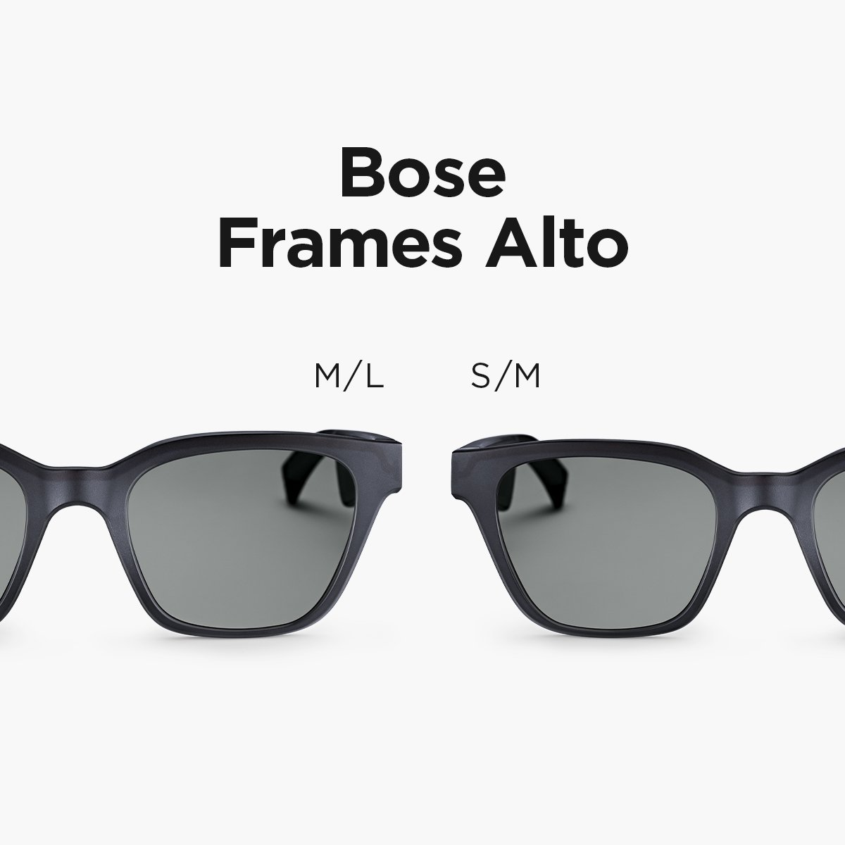 You asked and we listened! #BoseFrames Alto are now available in a new smaller size. Order yours today: https://bose.life/335Wqt4   🕶🎵 ​  Available now in U.S., Canada and Europe.