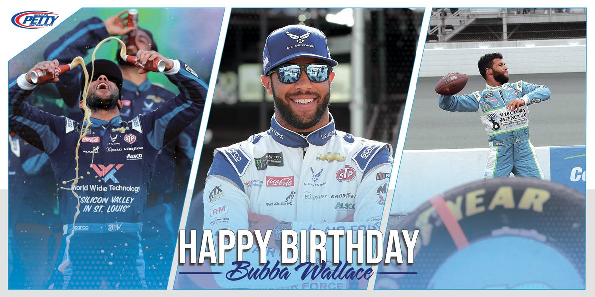 Today is a special day! RT to wish our main man @BubbaWallace a very Happy Birthday 🎂