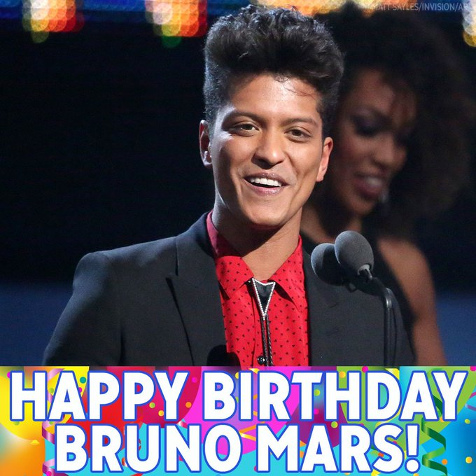 We ll forever love you just the way you are, Bruno Mars! Happy birthday!