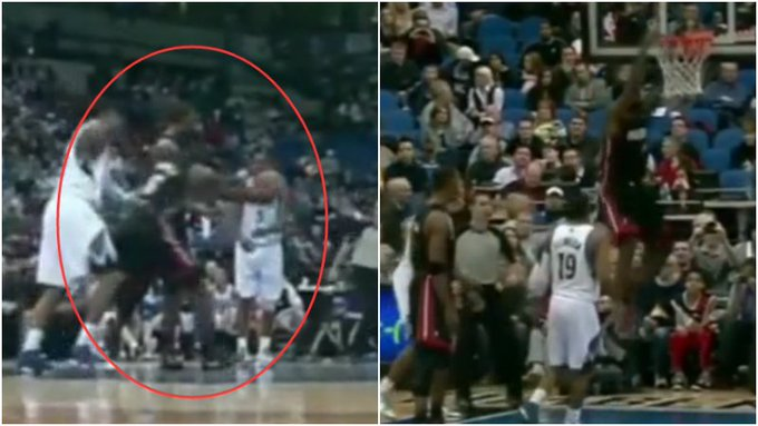 【影片】Bosh:我剛剛是不是拿了一籃板一助攻?詹姆斯「抄截」龍王雙手補扣!