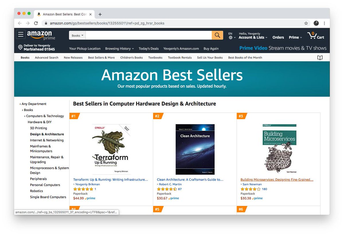 Yevgeniy Brikman On Twitter Terraform Up Running 2nd Edition Is The 1 Best Seller In A Bunch Of Amazon Categories Cloud Computing Design Architecture System Analysis Design Etc Https T Co Cui9whumi0