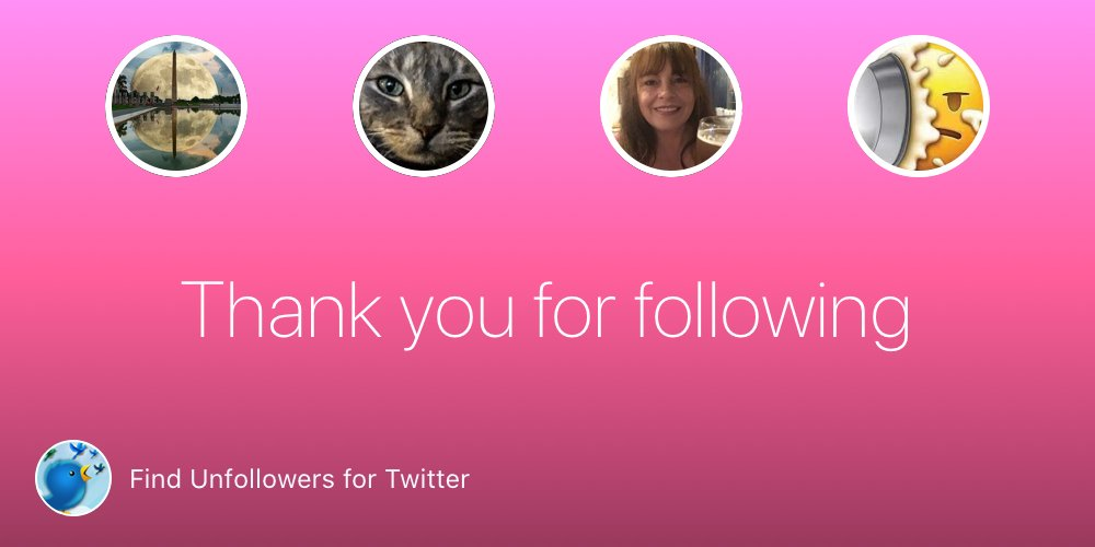 @netsy01, @purrmonsta, @CindyHardy, @Pie_Overlord Thank you for following! bit.ly/FindUnfollowers #findunfollowers #findunfollow #unfollowersapp