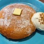 オスロコーヒーのデンマークチーズパンケーキ、ふかふかでおいしそう。しかも錦糸町駅直結で便利。