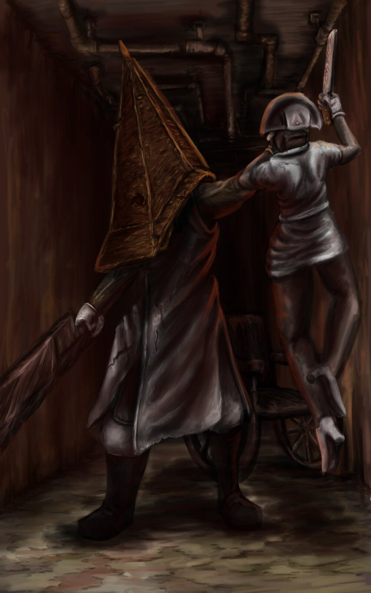 silent hill 2 pyramid head art
