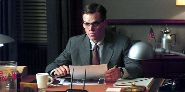 Happy birthday Matt Damon, whom I find particularly good when playing a man under pressure, as in The Good Shepherd.