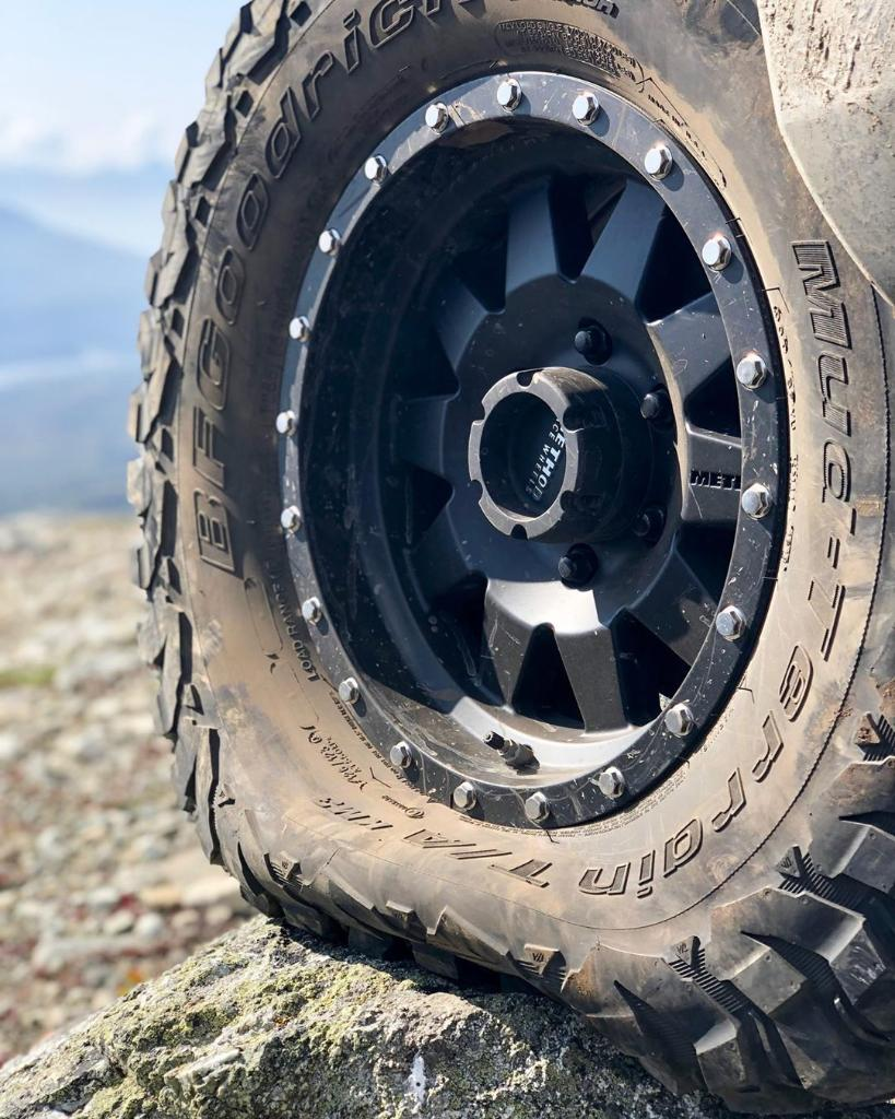Our #KM3 tires have strong racing roots. The same CoreGard Max technology that prevents sidewall splitting and puncturing is derived from our #KR3 desert racing tires. They're built through experience and earned on the trail. Instagram // 📸: SalvageTitleTacoma