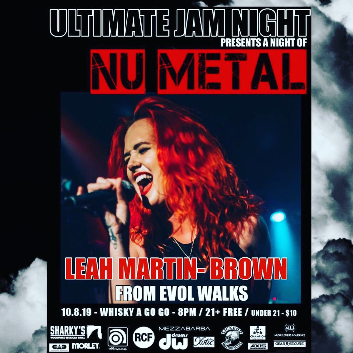 THIS TUESDAY OCTOBER 8th Eastern time! ULTIMATE JAM NIGHT & RYOULIVE present a night of NU METAL... featuring songs by KORN, SLIPKNOT, DISTURBED and more https://t.co/SIU9108uG4 #livebroadcast #ultimatejamnight #whiskyagogo #hollywood #korn #slipnot #disturbed https://t.co/d4zbXNu1Jj