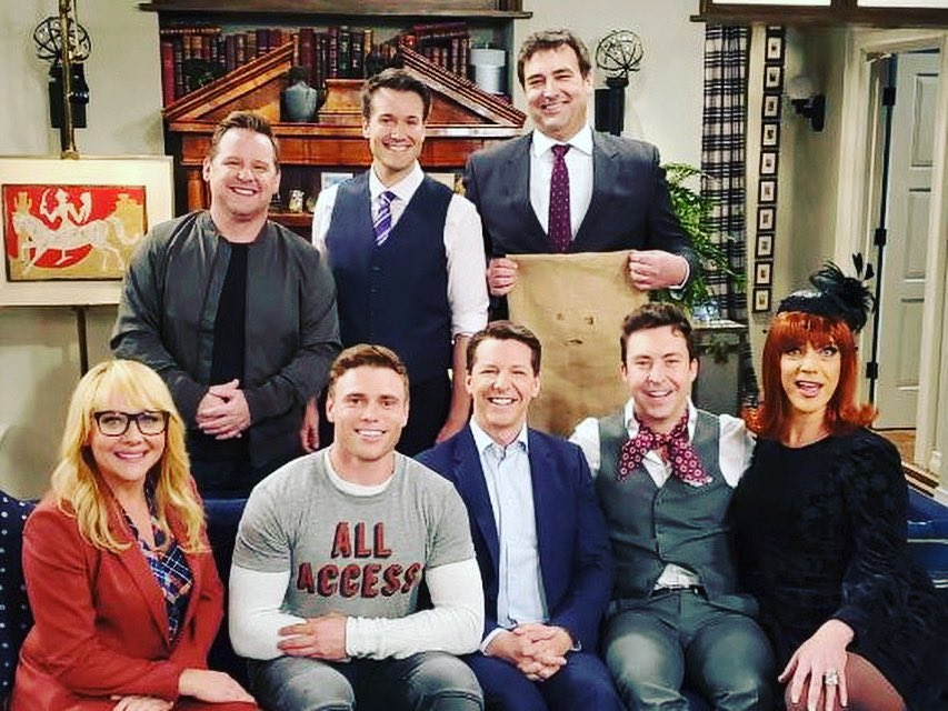 Had a blast making some funny with these folks last night. #WillAndGrace <br>http://pic.twitter.com/vrDYcAGWjm
