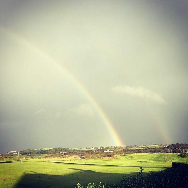 Somewhere over the 🌈 is Royal Portrush Golf Club!!! #rainbow #lovegolf #potofgold #portrushisgold #loveportrush #golfpics #instagolf #golfstagram #whatawonderfulworld Photo credit goes to @aimeehart93 ift.tt/2ofXCLW