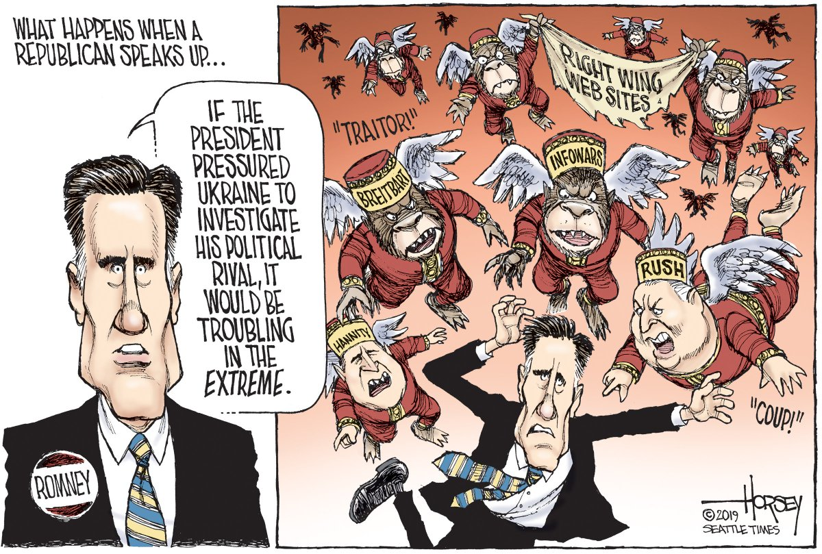 Mitt Romney is the only prominent Republican elected official who seems likely to go public with his opposition to the corrupt Republican president -- and he will be crucified for it...