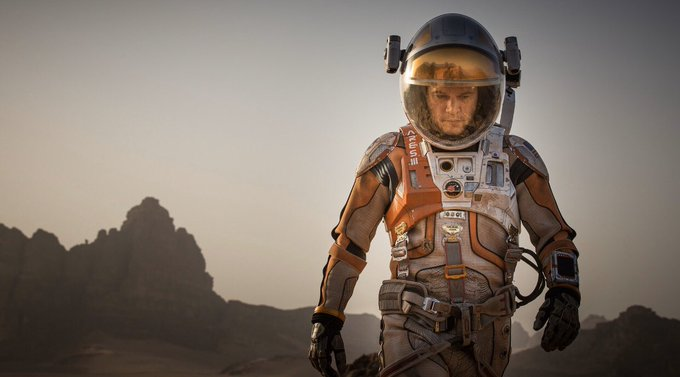 The Martian (2015) dir. Ridley Scott dp. Dariusz Wolski  Happy 49th birthday Matt Damon!