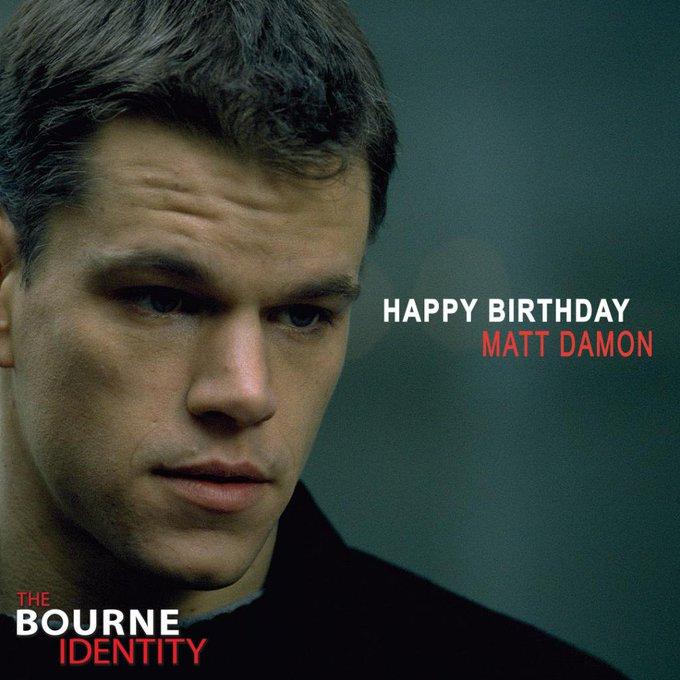 Happy Birthday, Matt Damon!  & !