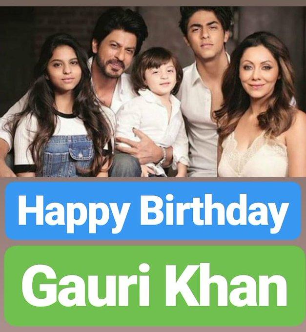 HAPPY BIRTHDAY  Gauri Khan