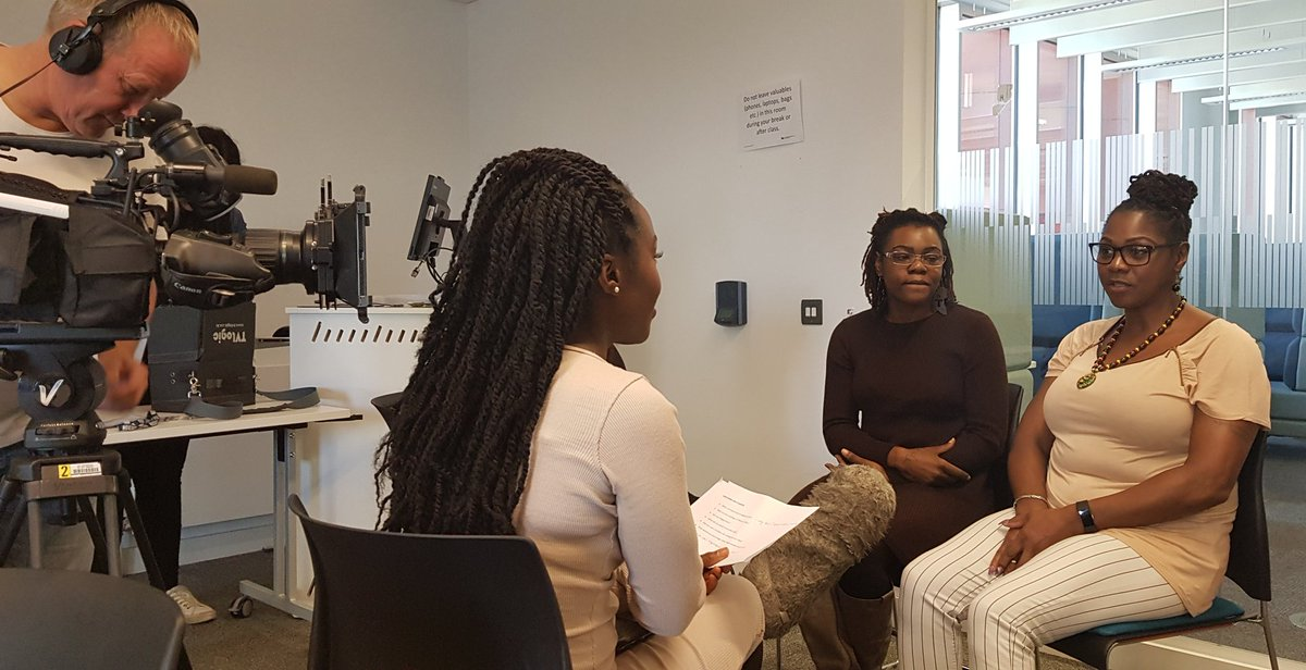 On #BlackStudiesBCU youre not just a student, its like a spiritual connection. Like your soul is in the course from Cain, one of our second years talking to Remani Love for a @bbciowm feature on Black students experiences in HE. Respect to all the students who took part