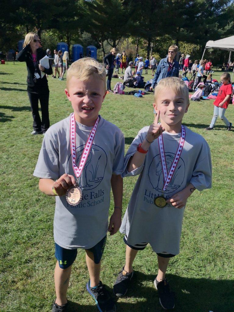 So proud of these two! #3/4 #littlefallspublicschool #crosscountryrun pic.twitter.com/OEG96qqs2j