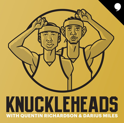 Knuckleheads with Quentin Richardson & Darius Miles |  Gilbert Arenas | #NoChillGill #NoChillPodcast  #Knuckleheads #NBA #NBATwitter #NBPA #NBAPodGod  Listen here 🎧: https://t.co/TRyXFG4NxM https://t.co/eA2ldgsW0G